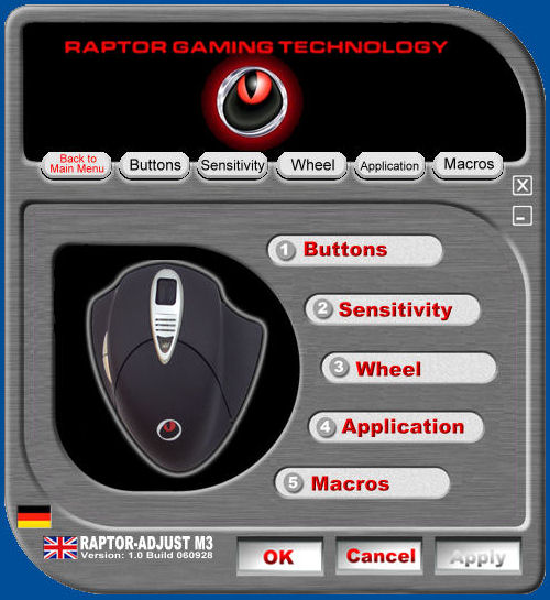 Raptor M3 Mouse Drivers