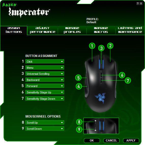 Razer Imperator Drivers