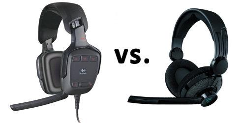 Logitech G35 versus Razer Megalodon