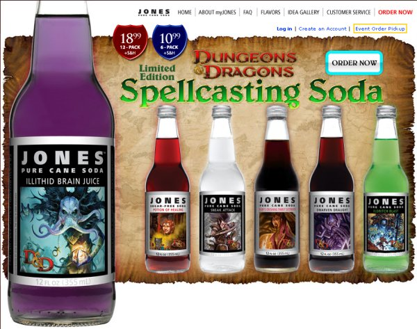 Dungeons & Dragons Spellcasting Soda
